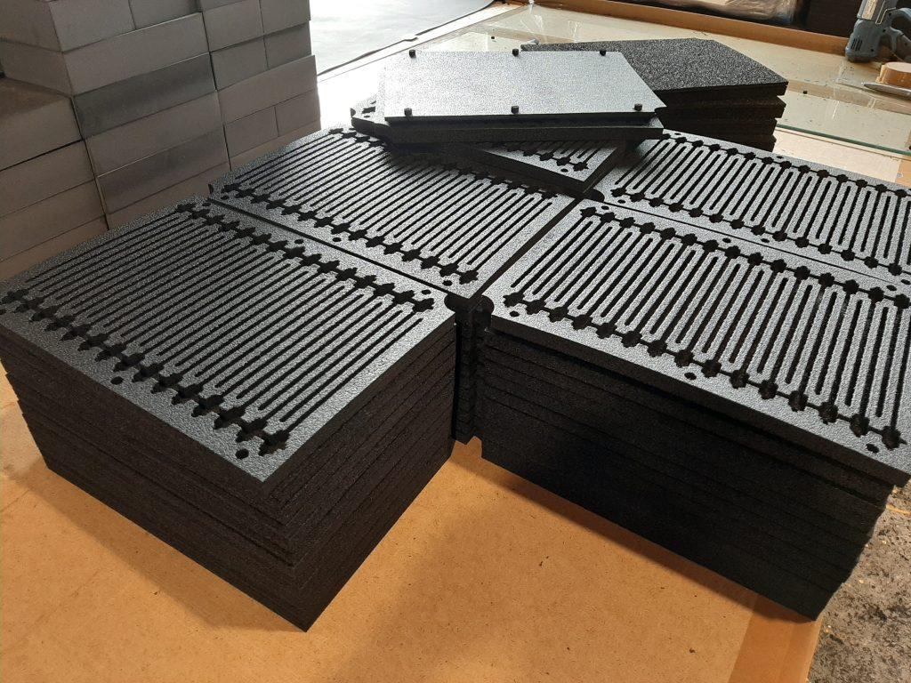 ESD Material, ESD Schaumstoff, auf verschiedene Dicken Laminiert, in verschiedenen Farben und Dichten verfügbar